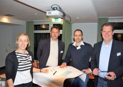 Aline Baader, Michael Munz, Patrik Mork, Alexander Quade im Workshop