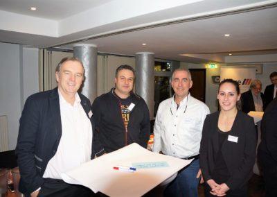 gemeinsam Workshoppen: Frank Zehle, Stefan Ermentraut, Markus Lönne, Anna Schraube