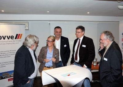 Martin Hämmerle in der Diskussion mit Kerstin Weiss, Hannes Schwarz, Dietmar Ludolph und Rolf Samsel