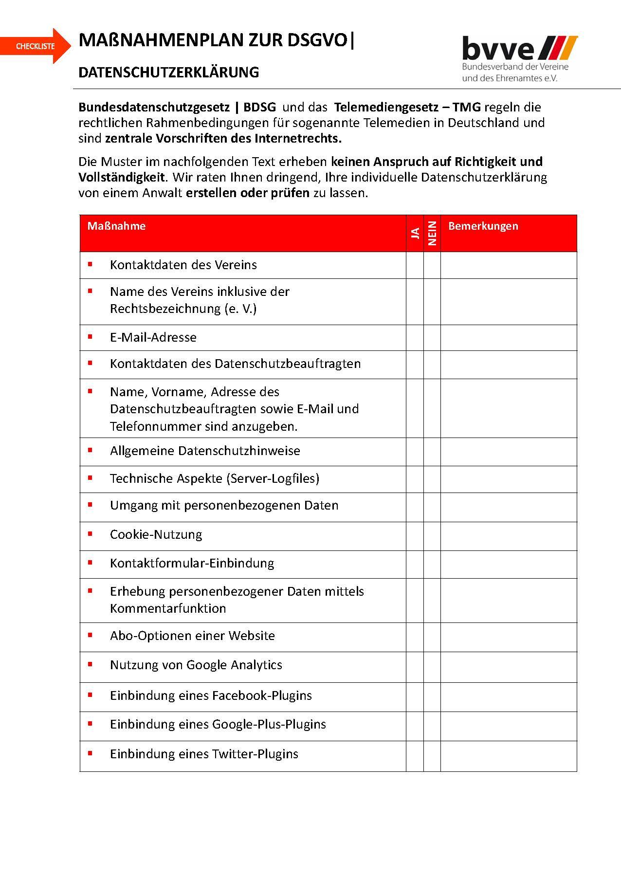 Handbuch zum Tagesseminar DSGVO bvve