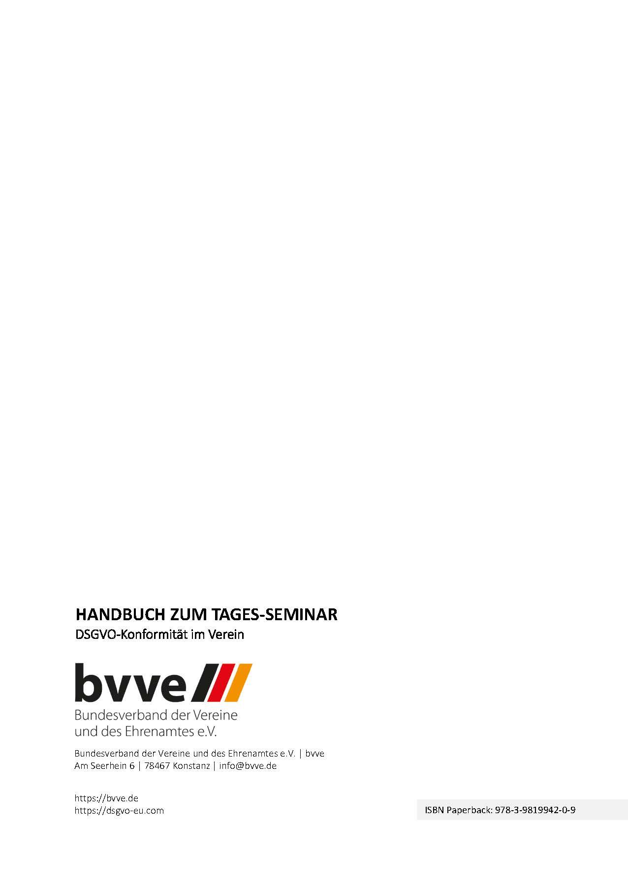 Handbuch zum Tagesseminar DSGVO bvve Auszug Hans-Jürgen Schwarz