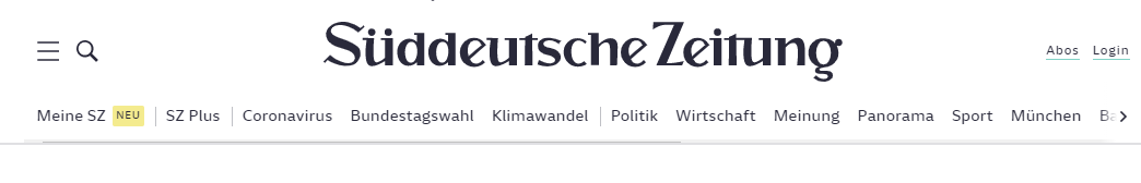 SZ Süddeutsche Zeitung